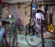 Removal of broken diesel engine blower bolt