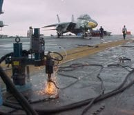 Removal of over 500 bolts from CV 67 & CVN 73