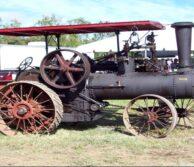 shaft repair on steam tractor