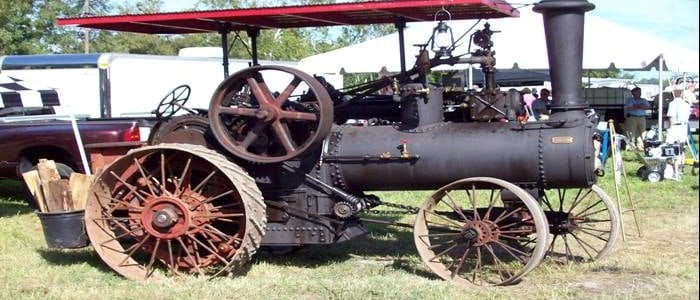 shaft repair on steam tractor